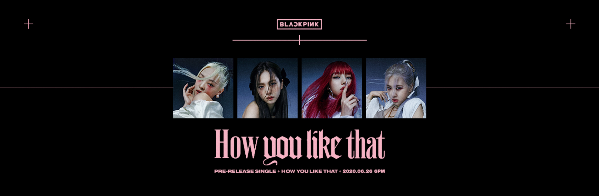 Black Pink How You Like That Banner